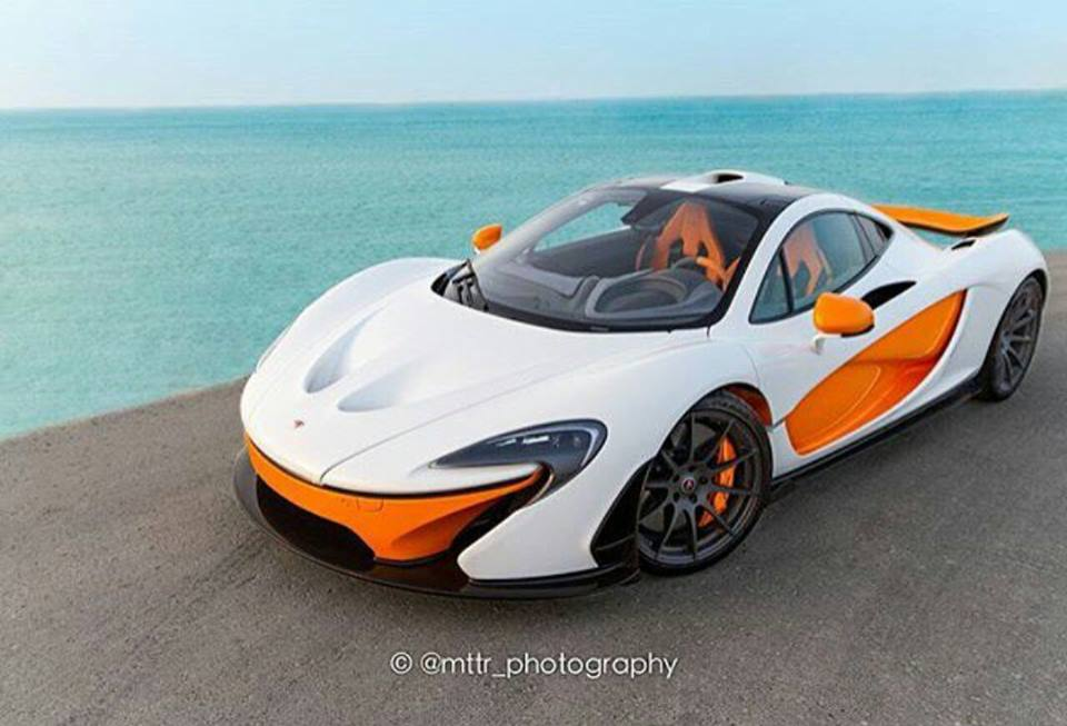 White MSO McLaren P1 with Orange Details Emerges - GTspirit