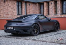 Blacked out Porsche 911 Turbo S