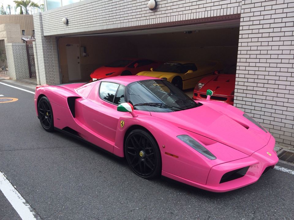 Pink Ferrari Enzo Emerges in Japan - GTspirit