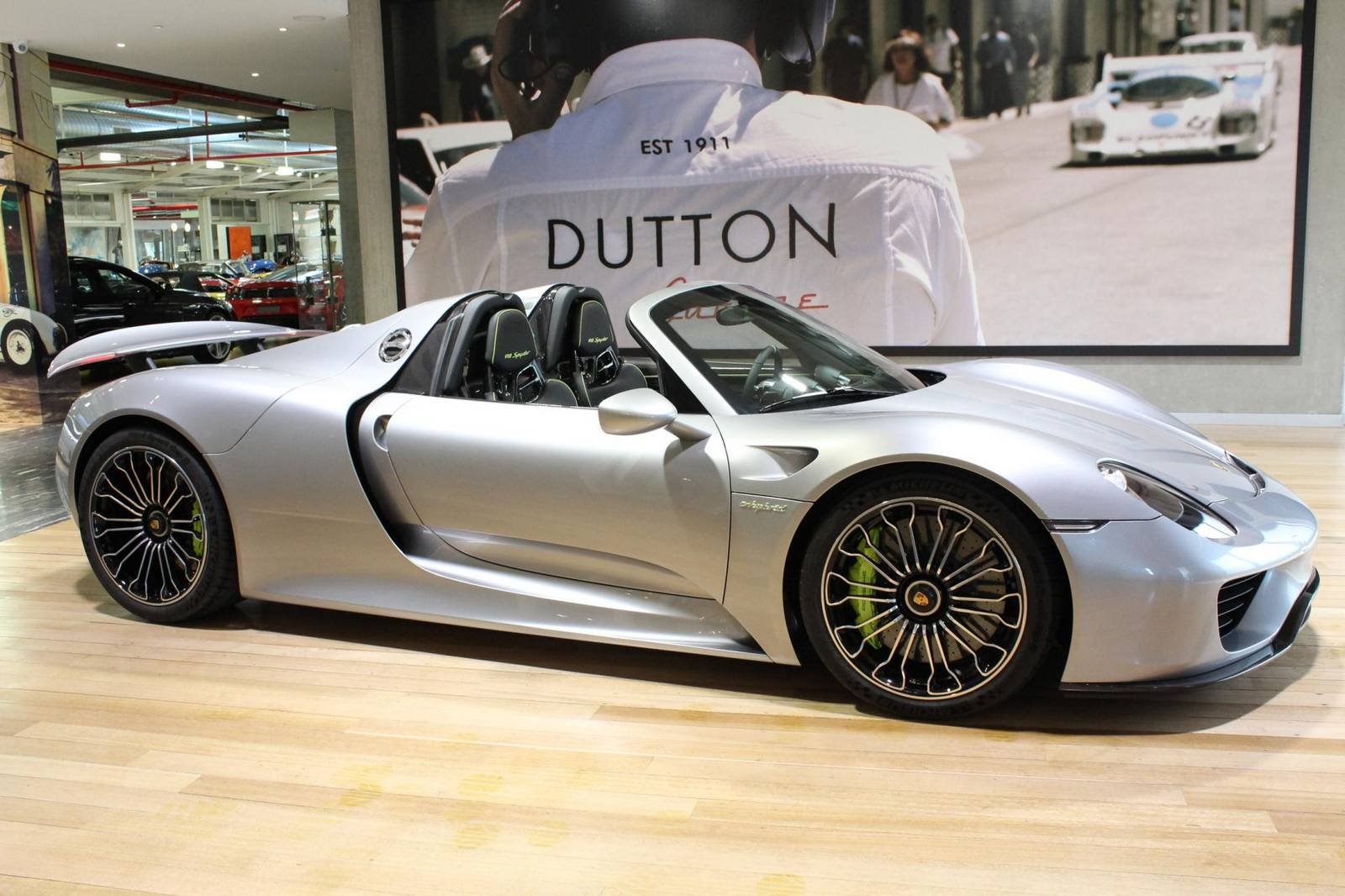 silver porsche 918 spyder for sale in australia gtspirit. Black Bedroom Furniture Sets. Home Design Ideas