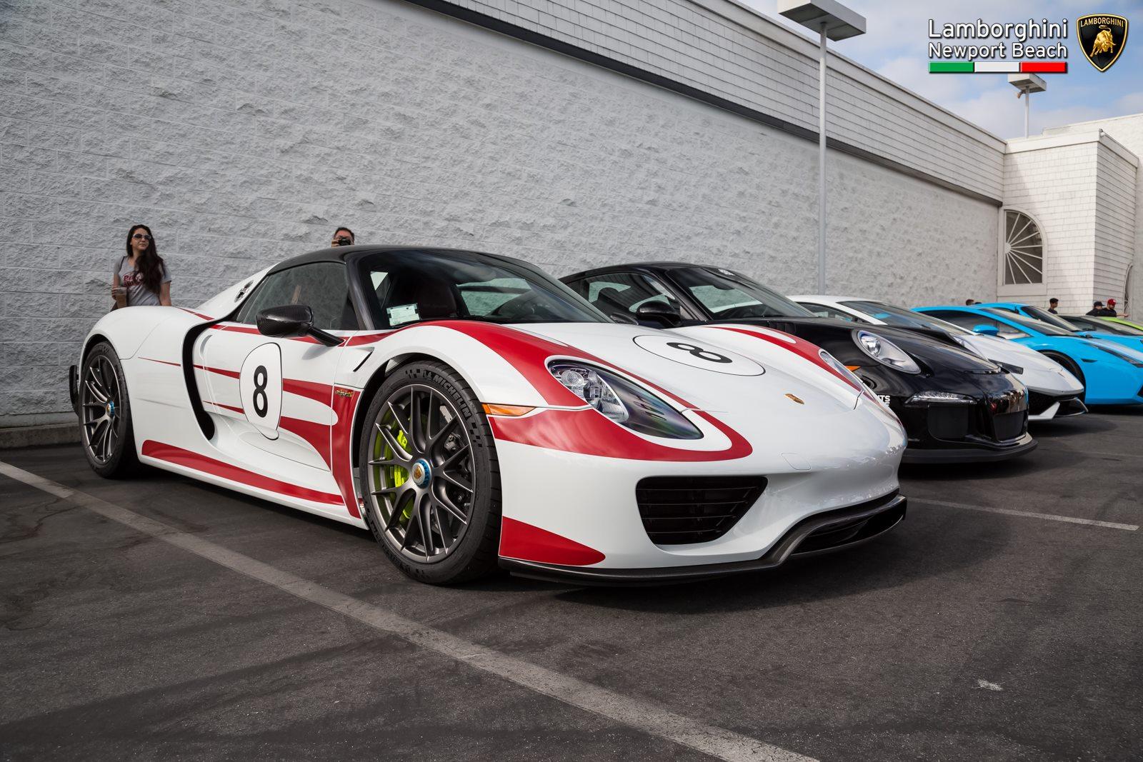 ... Lamborghini Newport Beach Supercar Show. Porsche 918 Spyder