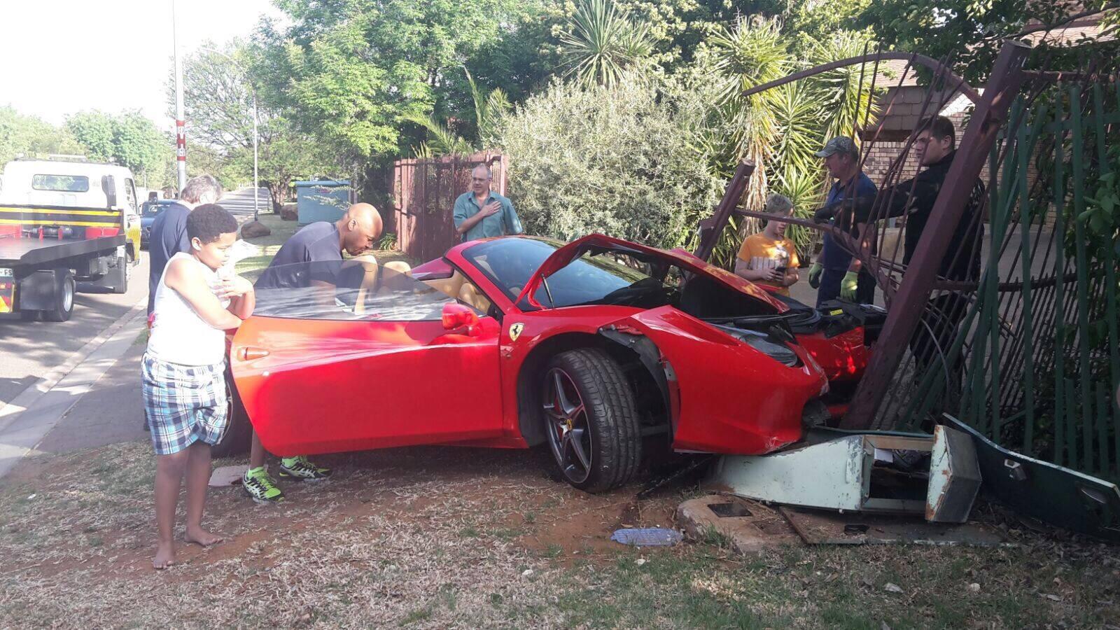 Ferrari 458 Spider Damaged In South African Crash