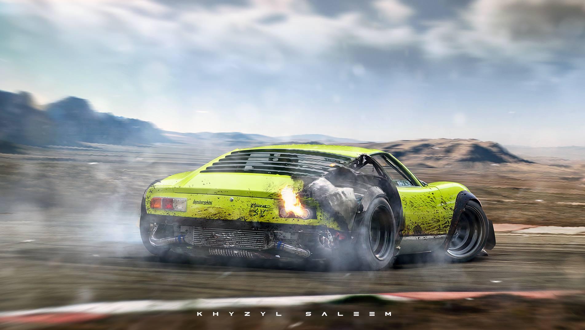 Drifting Widebody Lamborghini Miura Is The Thing Of Dreams Gtspirit