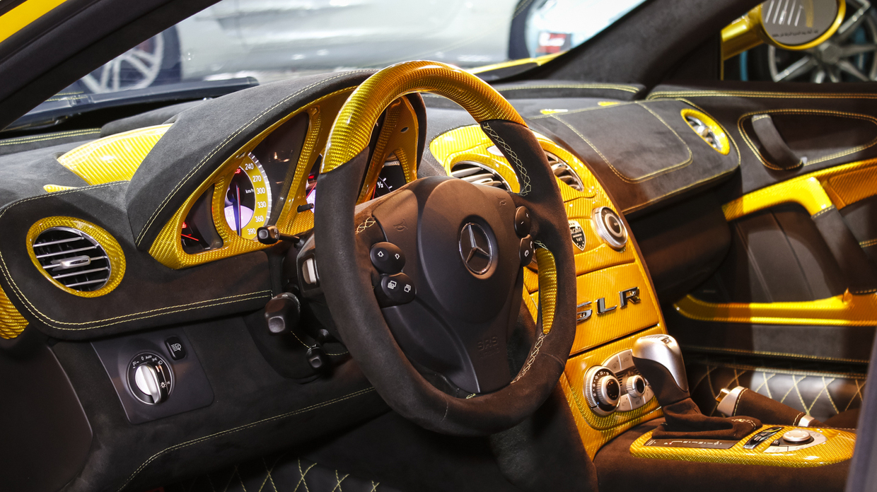 Yellow hamann volcano mercedes benz slr for sale gtspirit for Mercedes benz tune up cost