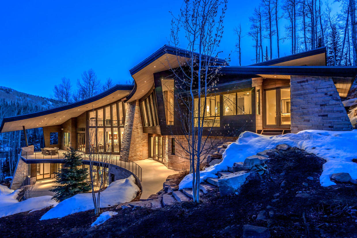Stunning 14 5 million mansion hits the market in park for Modern homes utah for sale