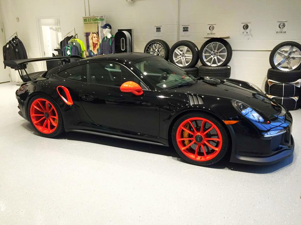 Black and Orange Porsche 911 GT3 RS
