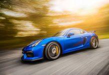 Porsche Cayman GT4 blue