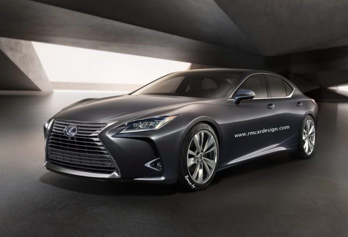 Next-gen Lexus LS rendered