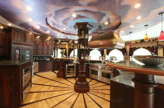 $45 million castle for sale kitchen