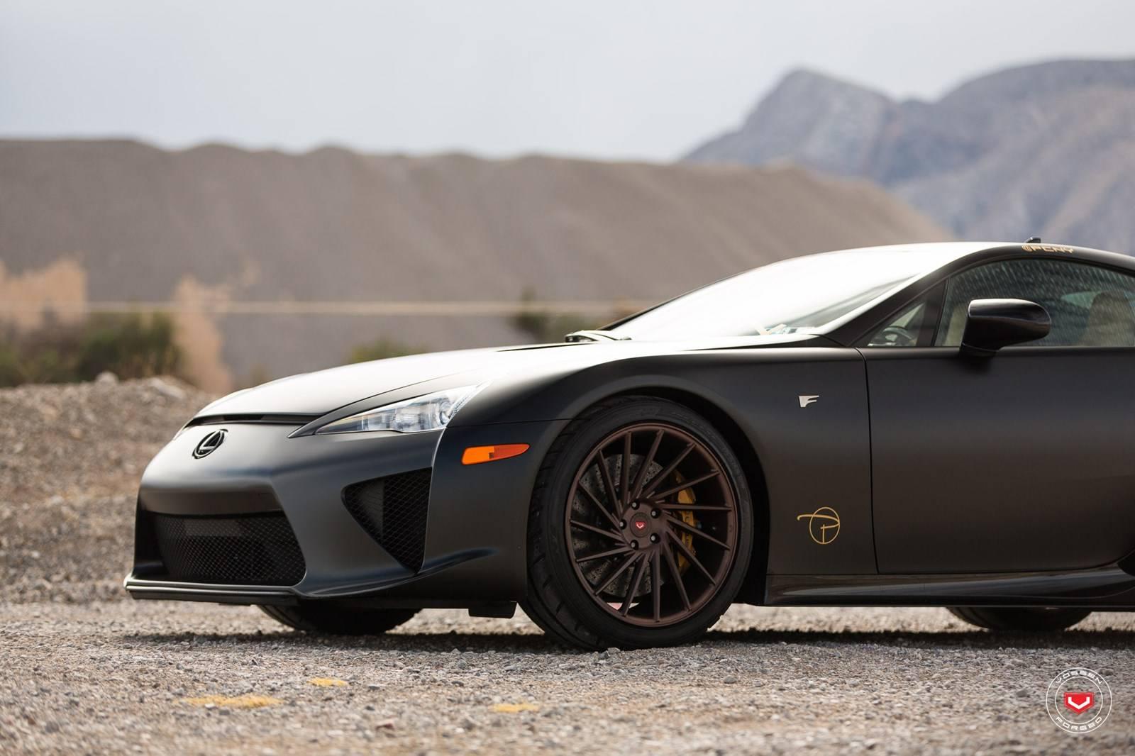 Satin Black Lexus Lfa Stuns On Vossen Wheels Gtspirit