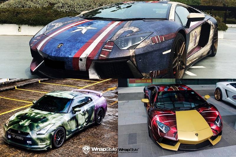 Marvel Superhero Themed Supercars By Wrapstyle Singapore