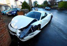 Ferrari 458 crash Cardiff (1)