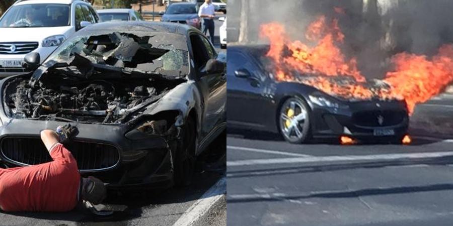 Maserati Granturismo Fire Car