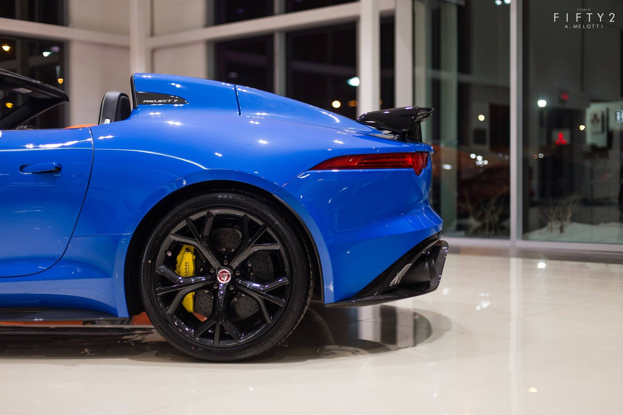 1 Of 7 Jaguar F Type Project 7 In Canada Shines In Blue