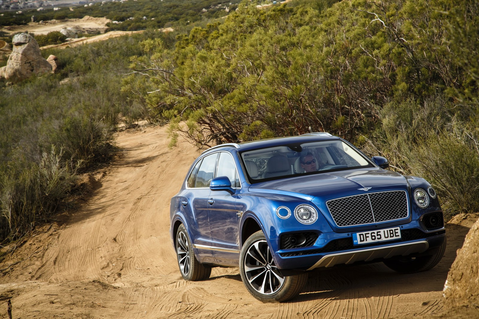 Sequin Blue Bentley Bentayga Off Road
