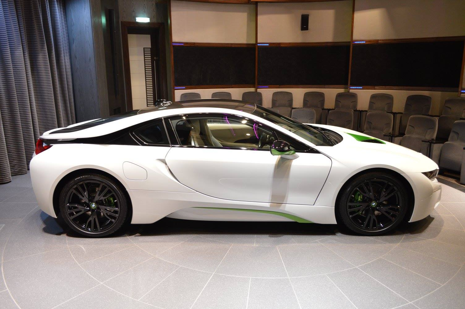 Fabulous White BMW I8 With Java Green Accents
