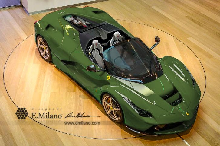Ferrari LaFerrari Spider New Renderings - GTspirit