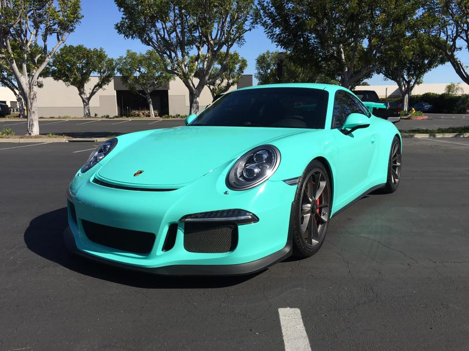 Epic Tiffany Blue Wrapped Porsche 911 Gt3 Gtspirit