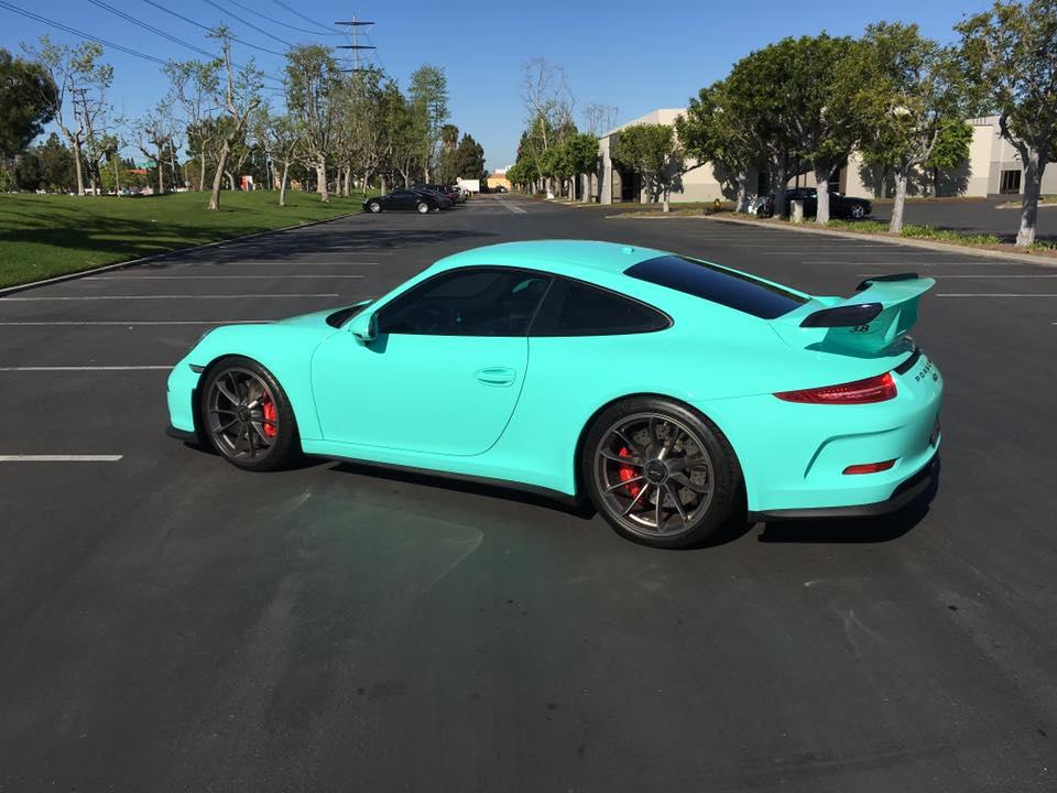 2019 Porsche 911 Turbo S >> Epic Tiffany Blue Wrapped Porsche 911 GT3 - GTspirit