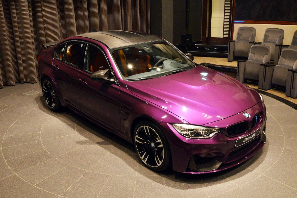 Unique Twilight Purple Bmw M3 In Abu Dhabi Gtspirit