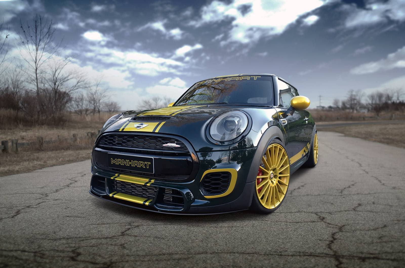 official mini cooper jcw f300 by manhart performance gtspirit. Black Bedroom Furniture Sets. Home Design Ideas