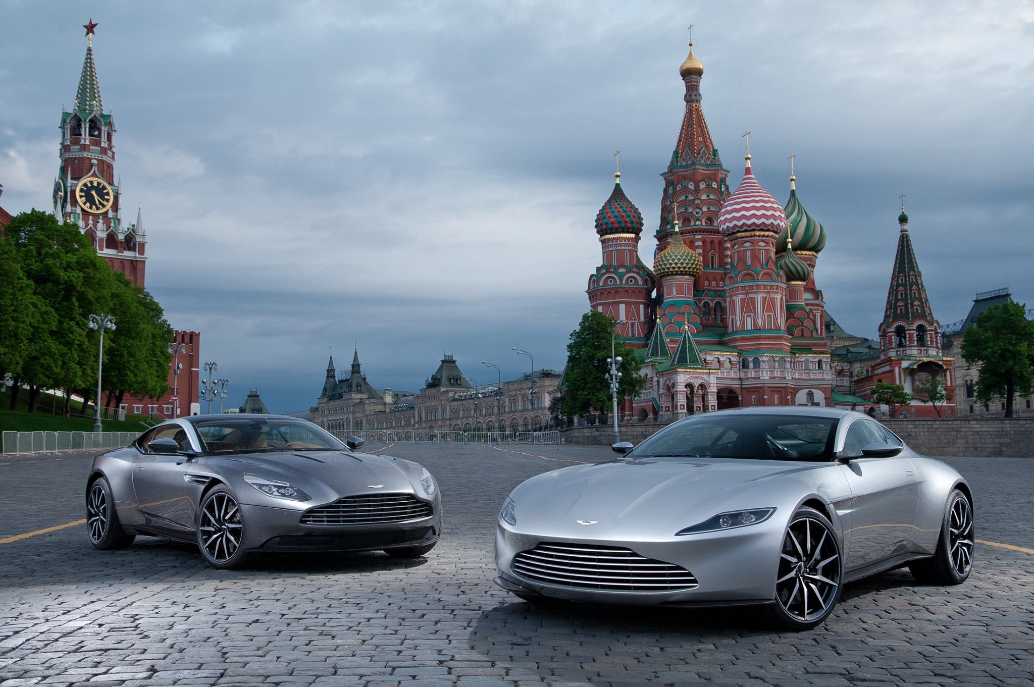 photo of the day: aston martin db11 meets db10 in moscow - gtspirit