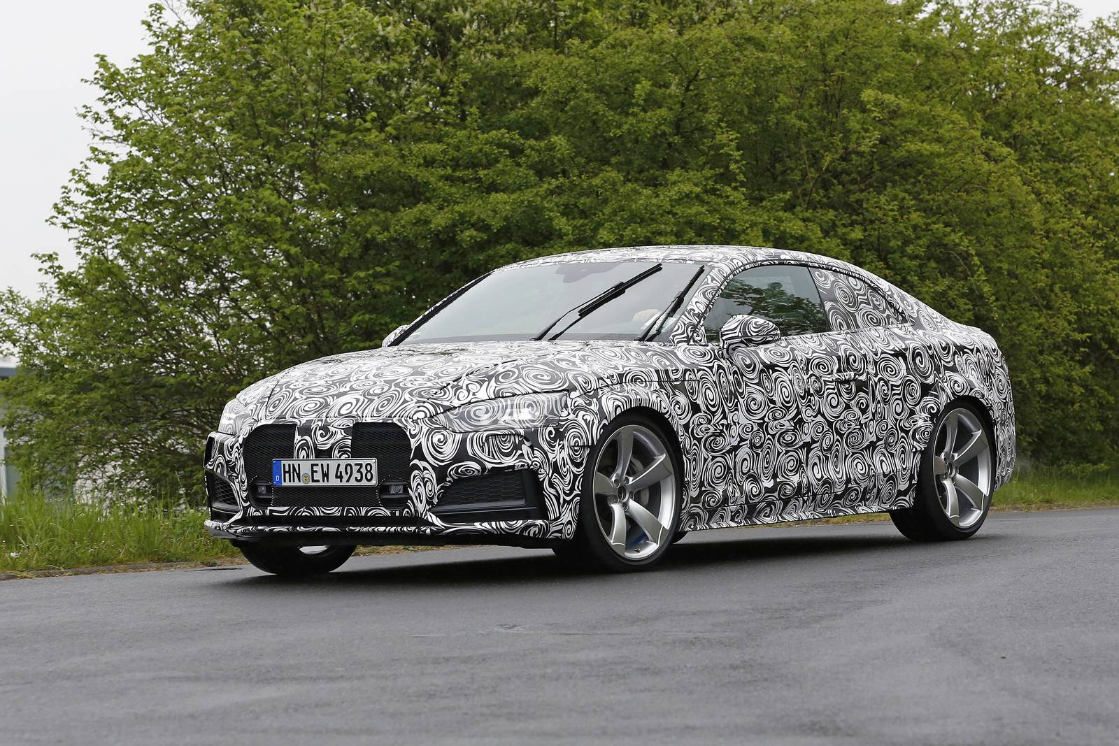 2018 audi rs5 first test mule spy shots gtspirit. Black Bedroom Furniture Sets. Home Design Ideas