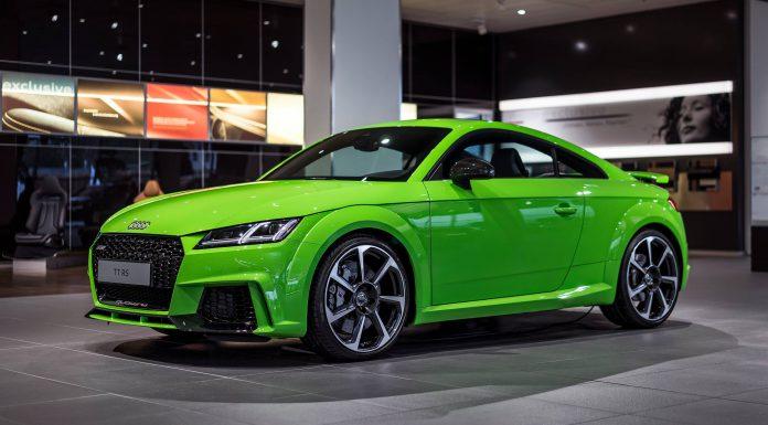 Lime Green  Audi Tt Rs At Audi Forum Neckarsulm