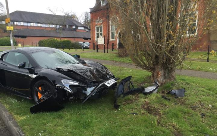 Footballer Car Crash