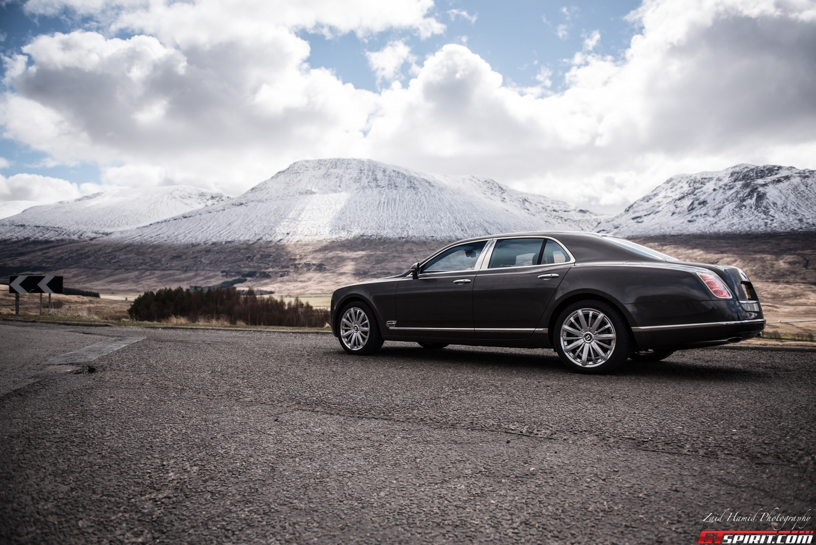 Bentley Mulsanne in the Highlands