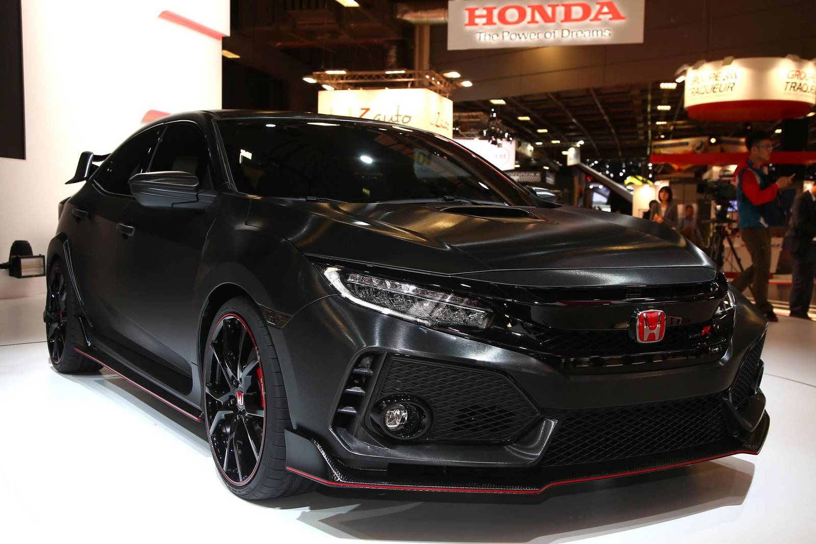 paris 2016 honda civic type r prototype 5th generation gtspirit. Black Bedroom Furniture Sets. Home Design Ideas