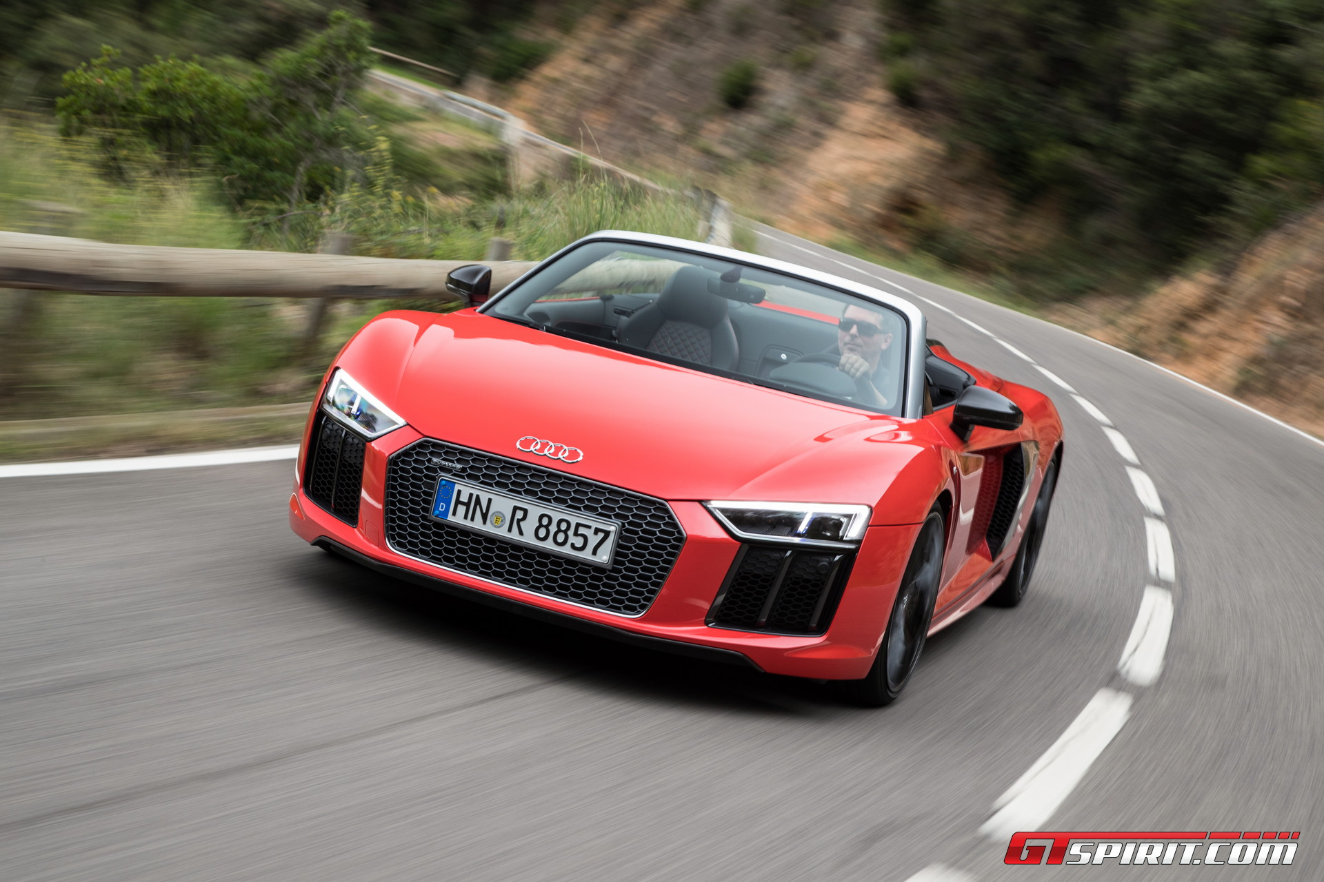 2017 audi r8 v10 spyder review - gtspirit