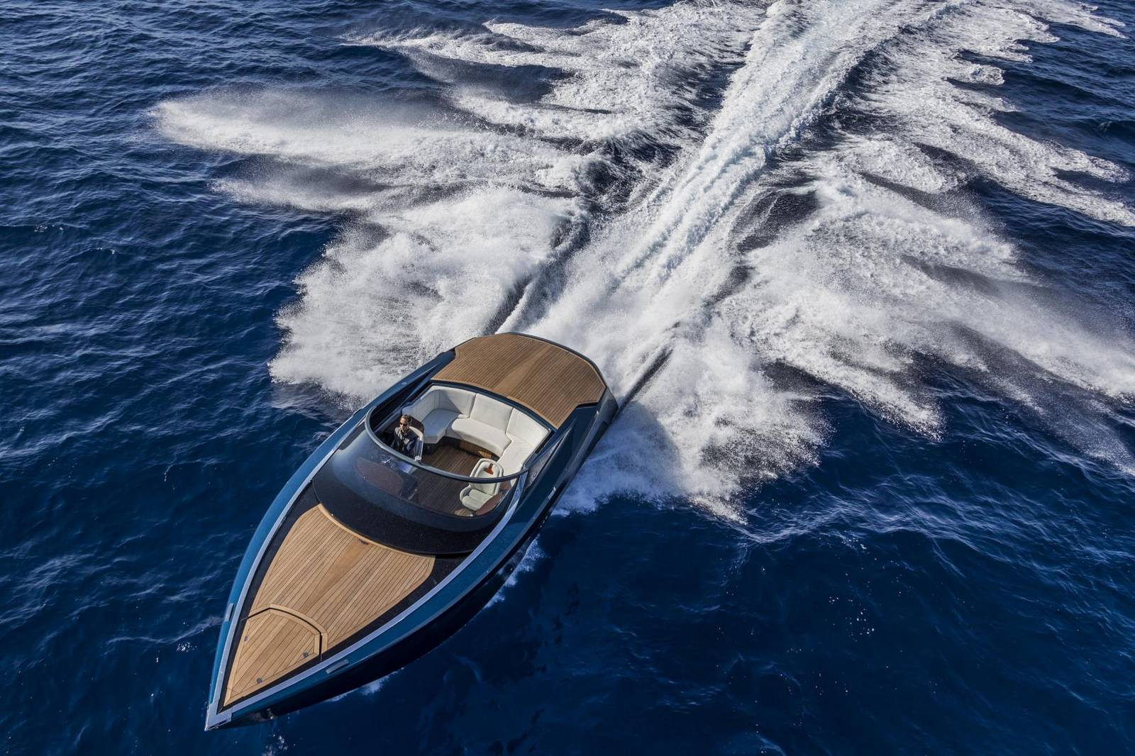 Aston Martin Debuts The AM37 Powerboat At The Monaco Yacht Show