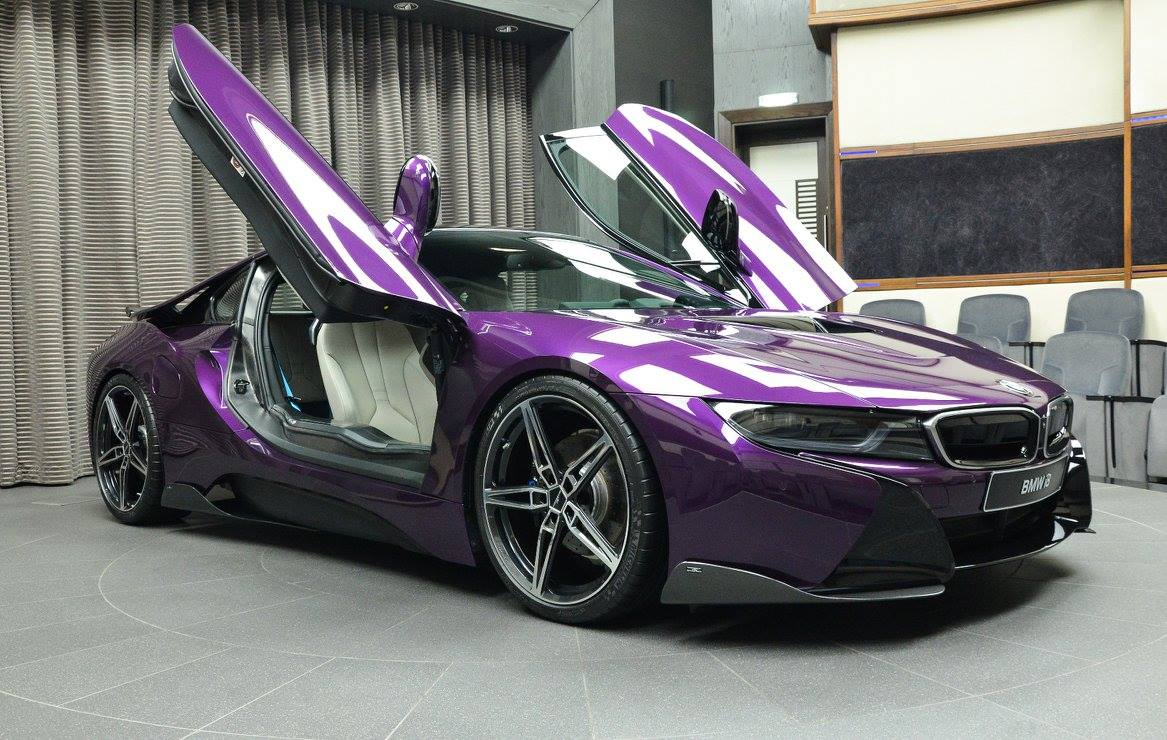 Gallery 1 Of 1 Twilight Purple Bmw I8 In Abu Dhabi Gtspirit
