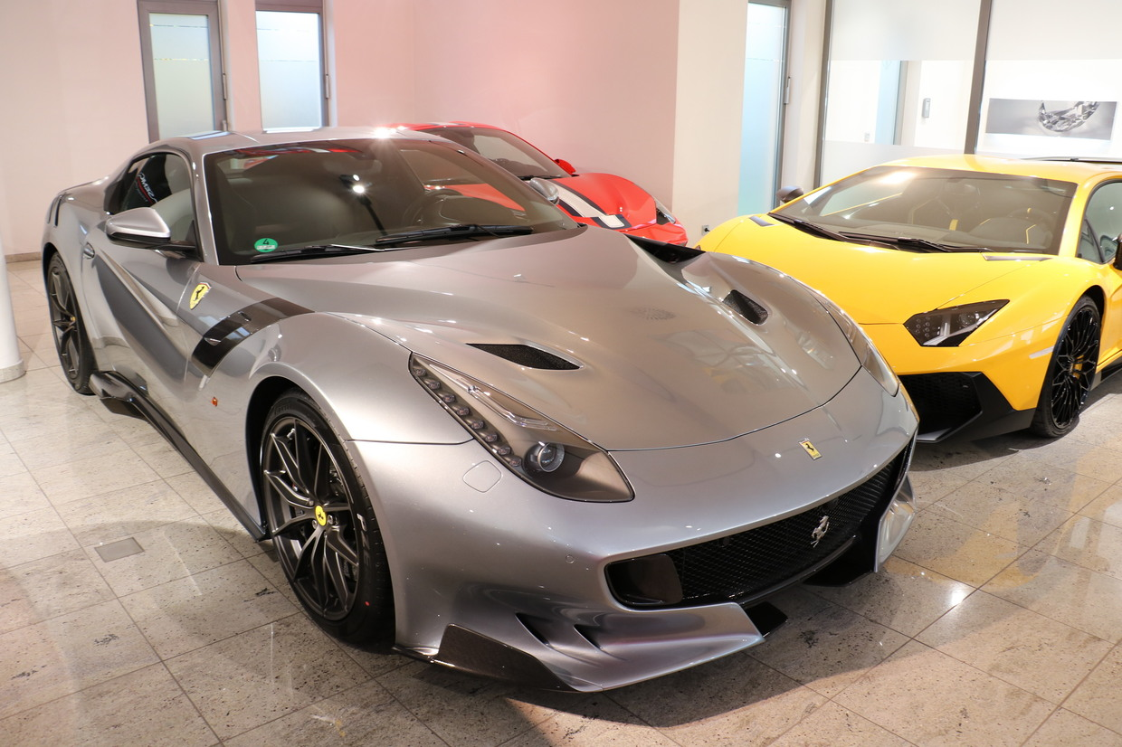 Ferrari F12 Interior >> Grigio Titanio Ferrari F12tdf for Sale at $1,058,300 - GTspirit