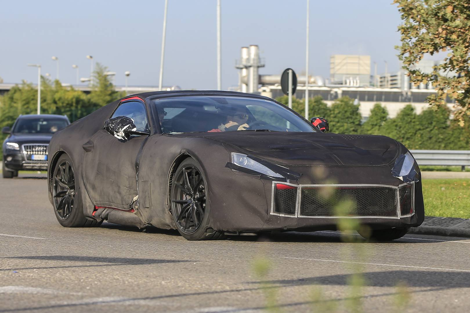 Ferrari F12 M First Spy Shots Breaking