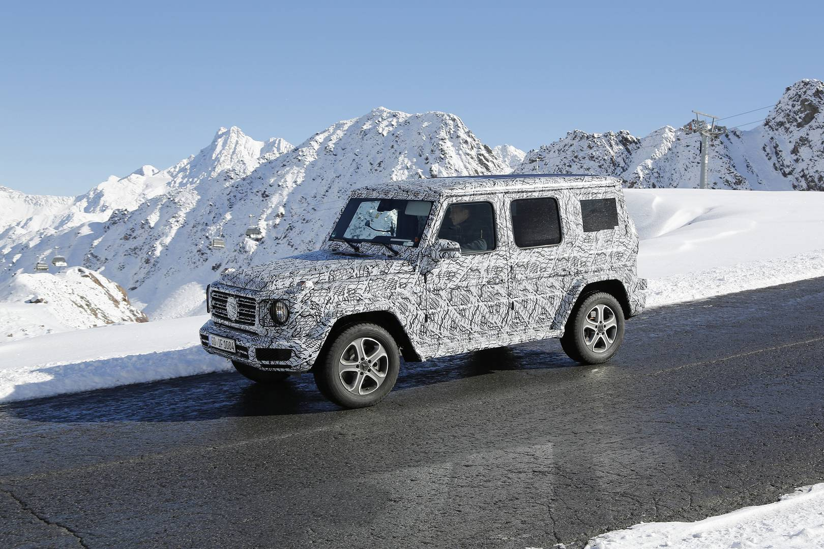 2017 mercedes benz g class spy shots in the alps gtspirit for 2017 mercedes benz g class