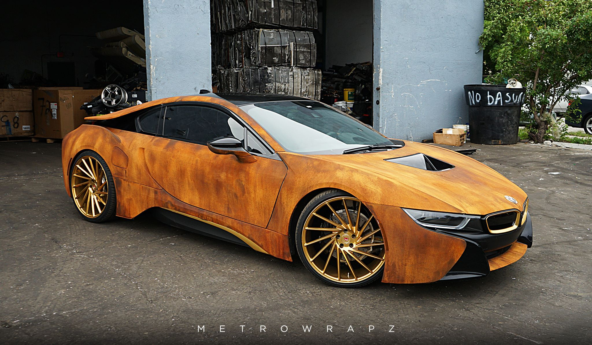 Mahone's Rust Wrapped BMW i8 with Vossen Wheels - GTspirit