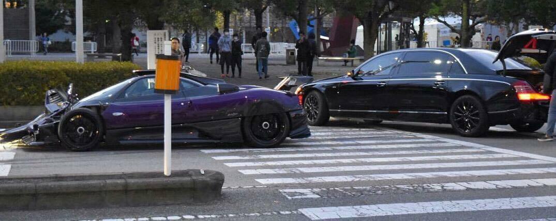 Pagani Zonda Zozo Crashes in Japan - GTspirit