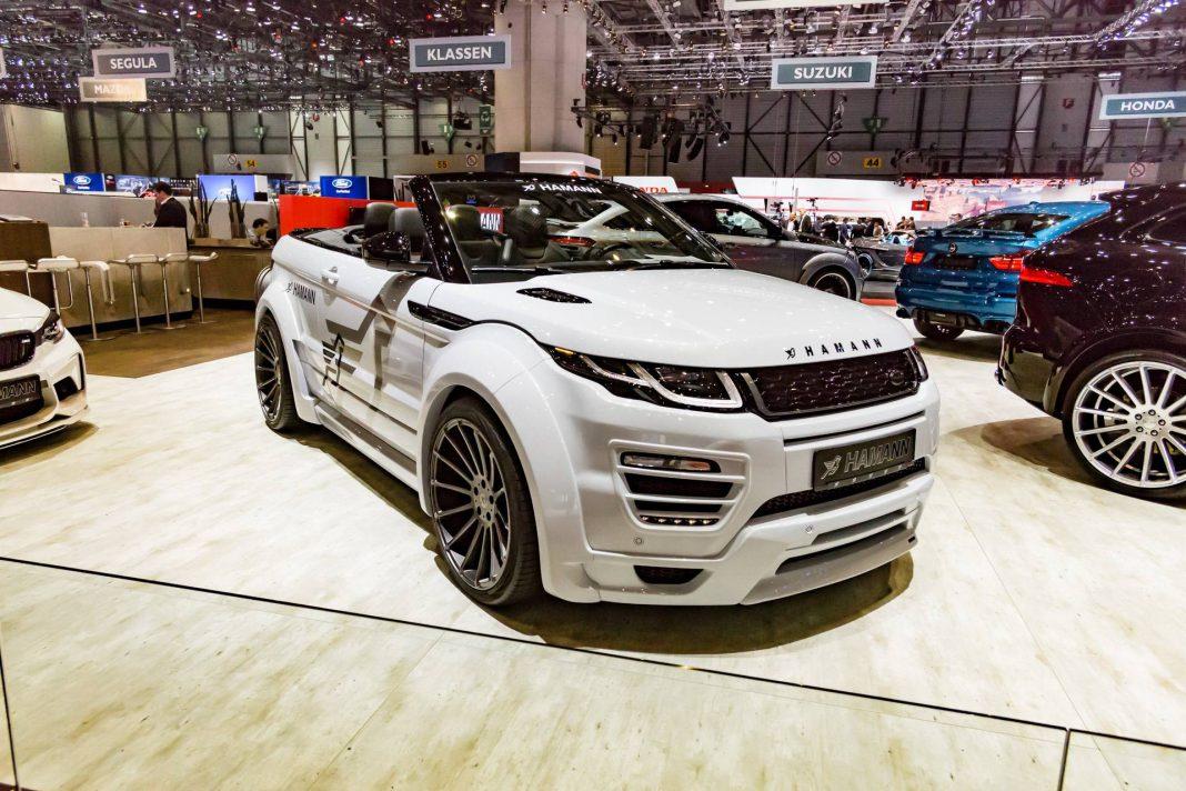 geneva 2017 hamann range rover evoque convertible gtspirit. Black Bedroom Furniture Sets. Home Design Ideas