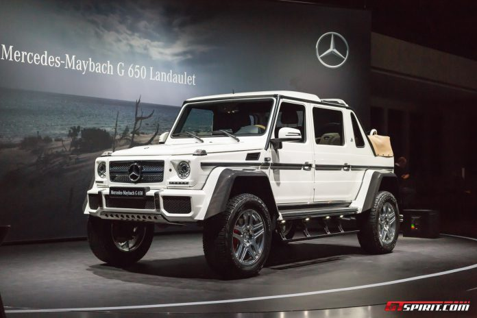Mercedes-Maybach G650 Landaulet at the Geneva Motor Show 2017