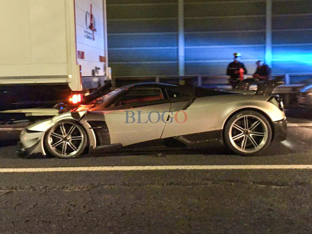 Amg Auto Sales >> Pagani Huayra BC Crashes into a Truck in Rome - GTspirit