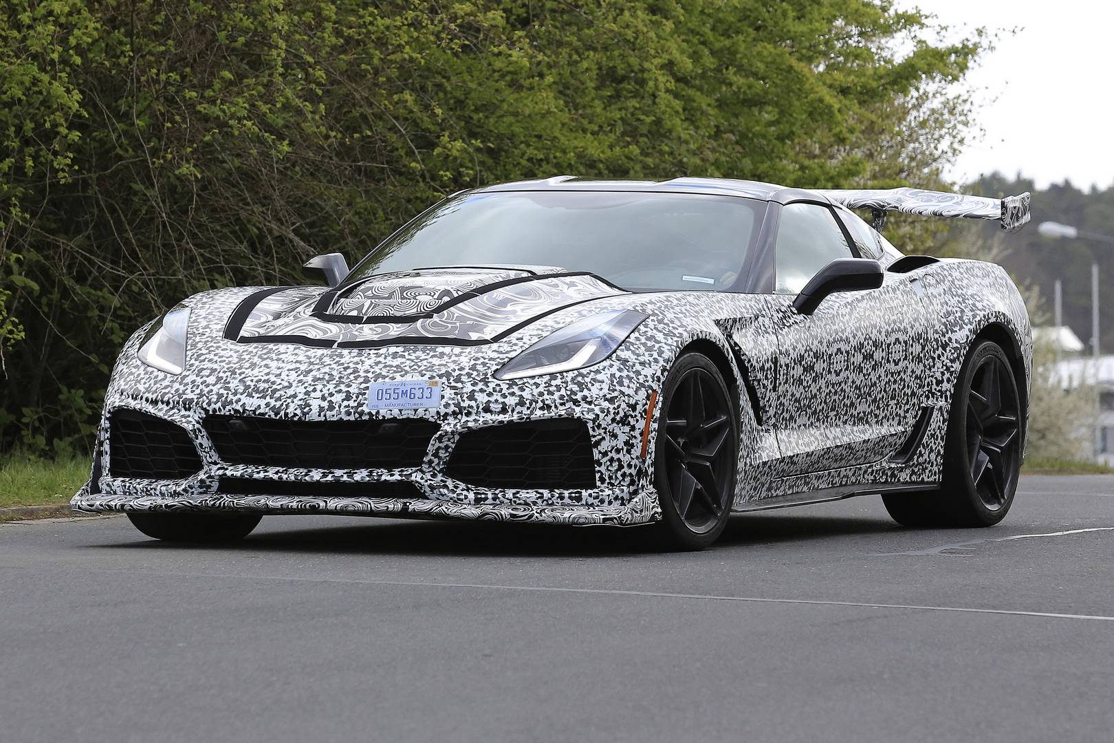 2018 corvette zr1 newest spy shots gtspirit. Black Bedroom Furniture Sets. Home Design Ideas
