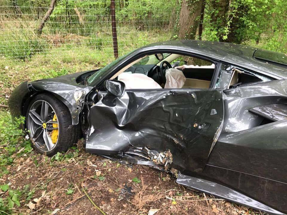 newly delivered ferrari 488 gtb crashed with only 69 miles gtspirit. Black Bedroom Furniture Sets. Home Design Ideas