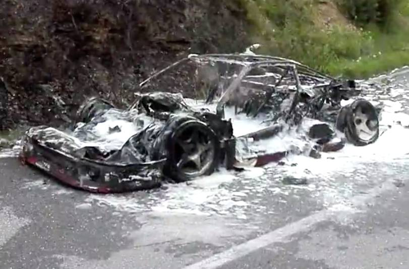 Ferrari F40 Burns Down During Road Trip To Collect