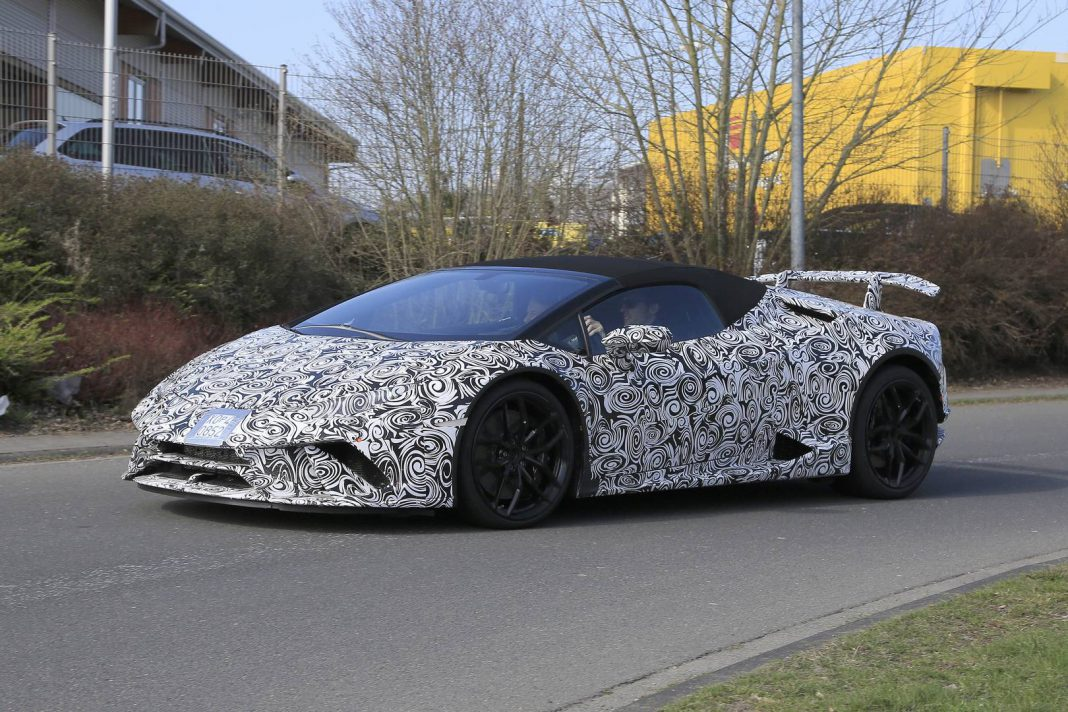 Lamborghini Huracan Performante Spyder Latest Spy Shots
