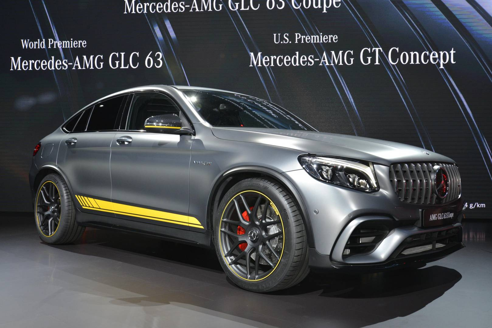 New york 2017 mercedes amg glc 63 gtspirit for 2017 mercedes benz amg g 63