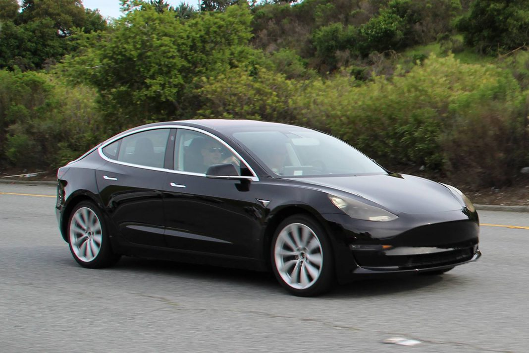 Tesla Model 3 First Spy Shots  Completely Undisguised  GTspirit