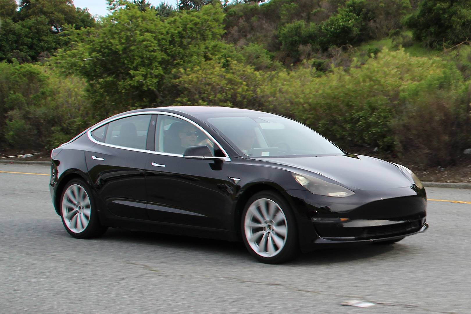 Tesla Model 3 First Spy Shots Completely Undisguised