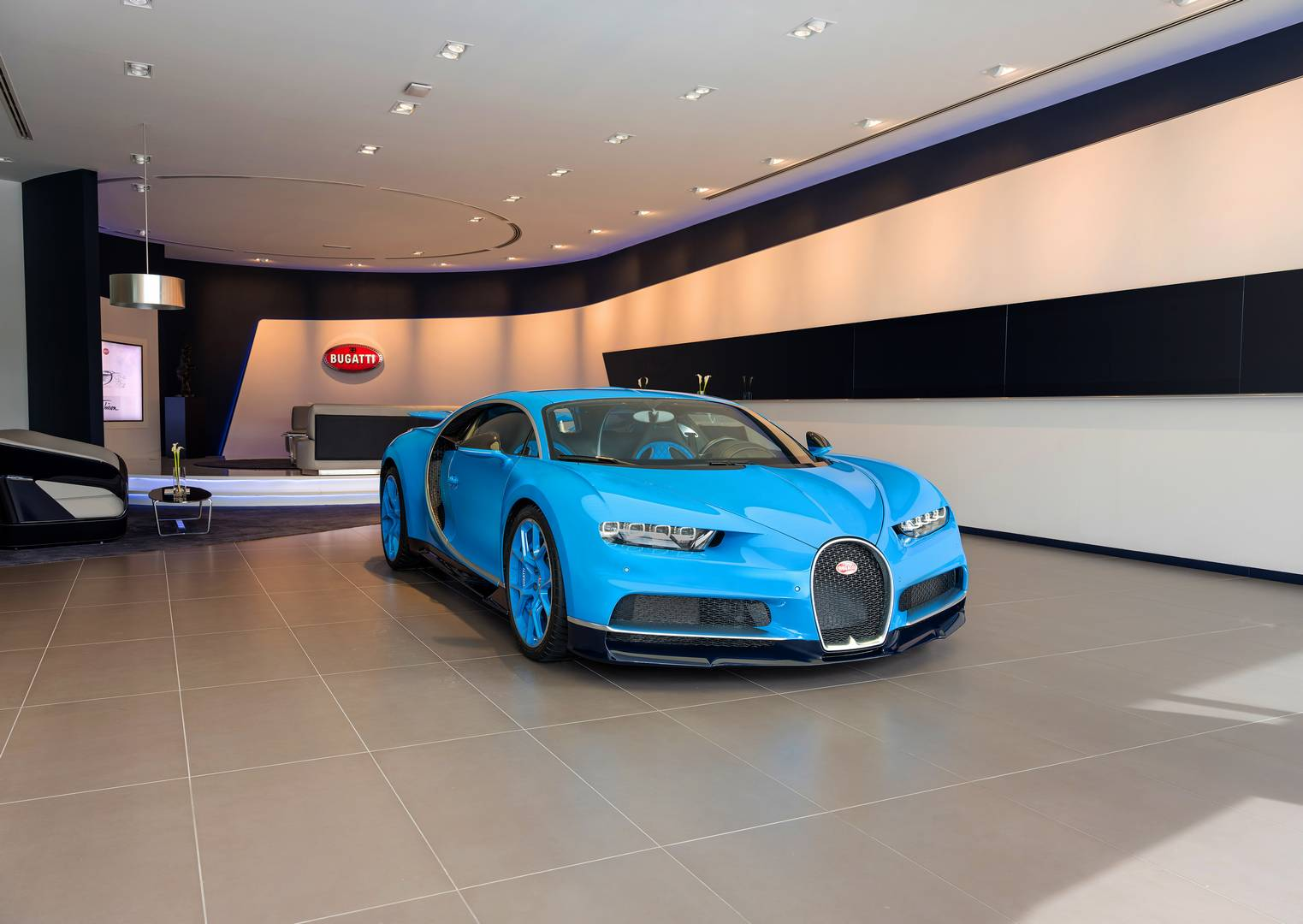 Largest Bugatti Showroom in Dubai Opened